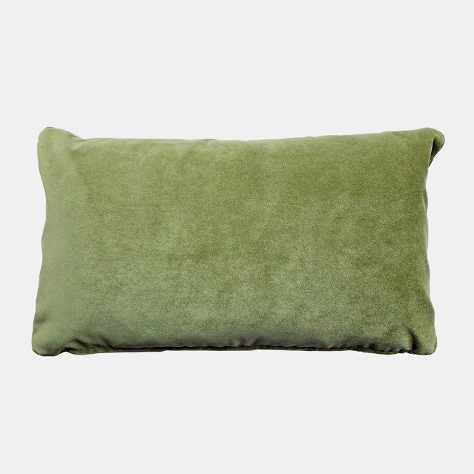 Winthrop Meadow Velvet Pillow, lumbar