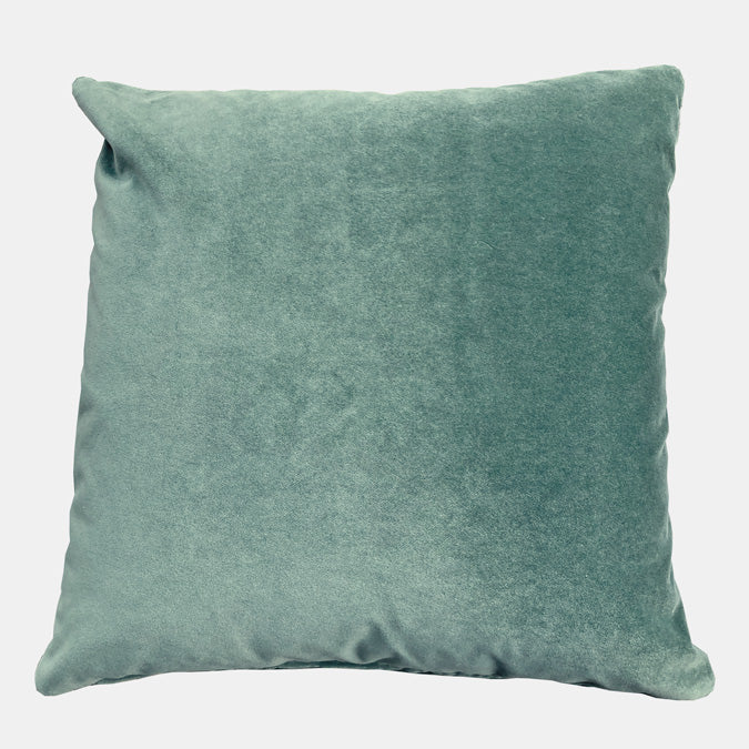 Winthrop Eucalyptus Velvet Pillow, square