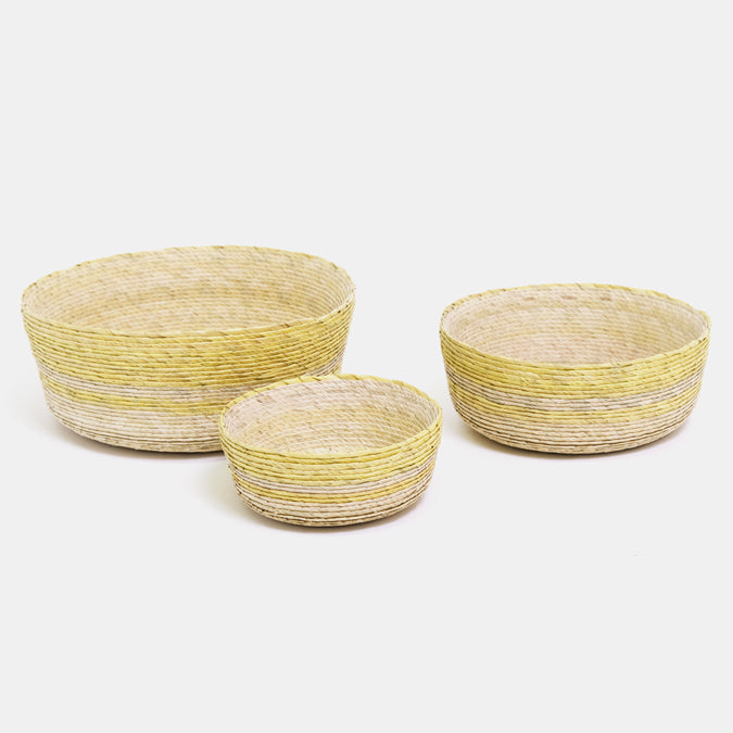Amaranto Yellow Round Basket