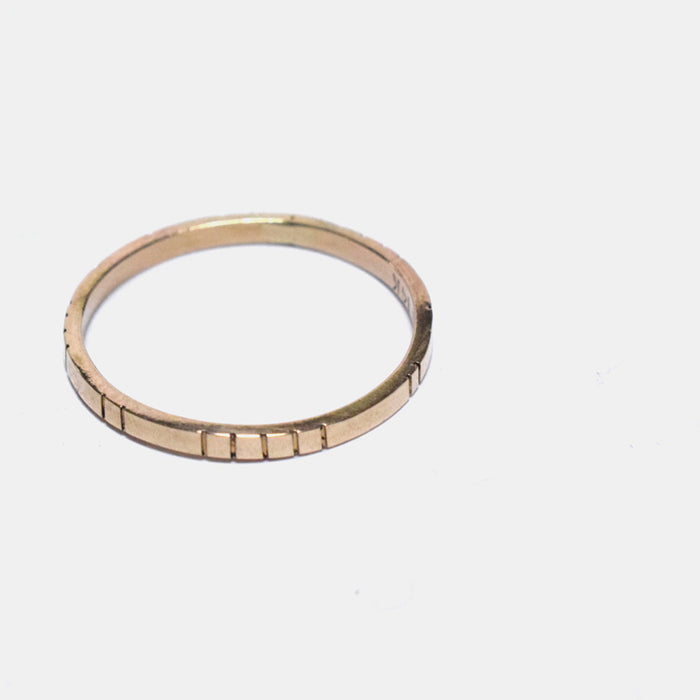 Young in the Mountains Ethically-Made Fine Jewelry Ring with 14k gold plain band - Collyer's Mansion