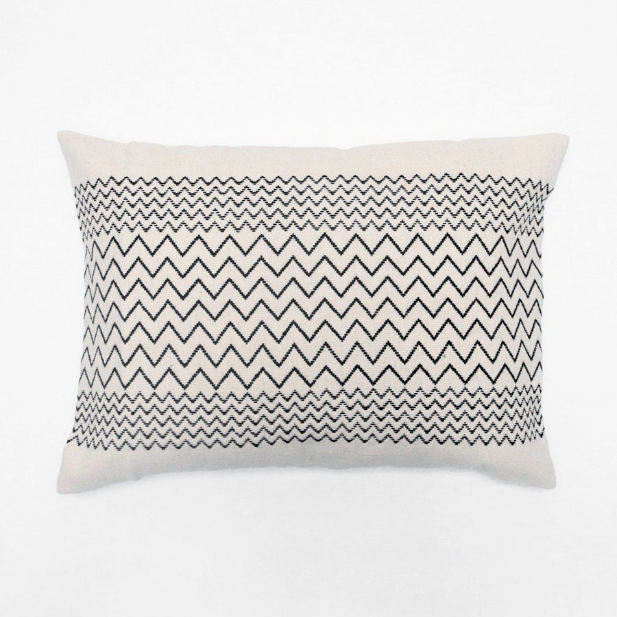 Black Zigzag Pillow, Pillow, Mille et Claire, Collyer's Mansion - Collyer's Mansion