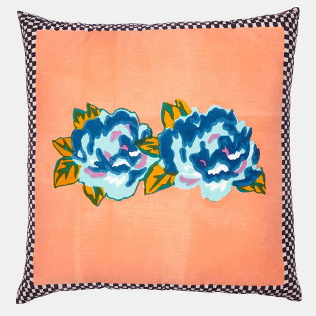 Double Peonia Peach Pillow