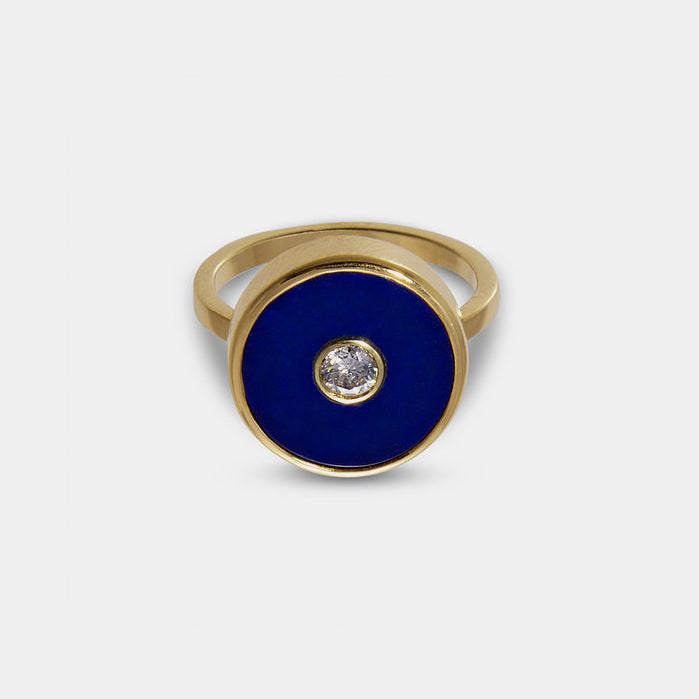 Diamond and Lapis Europa Ring