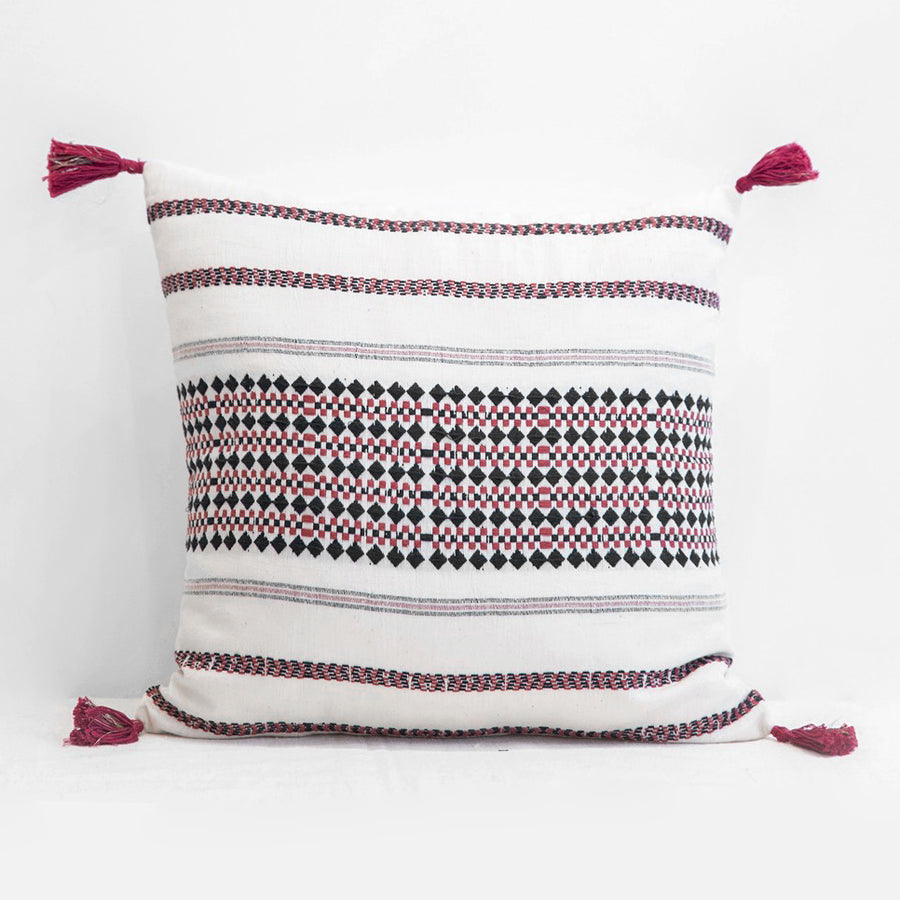 Anouk Charcoal Pillow, square