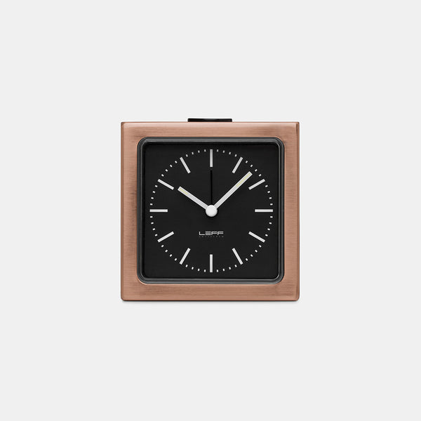 Block Alarm Clock, copper