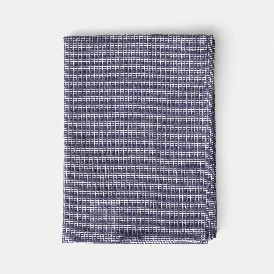 Blue Microcheck Kitchen Cloth