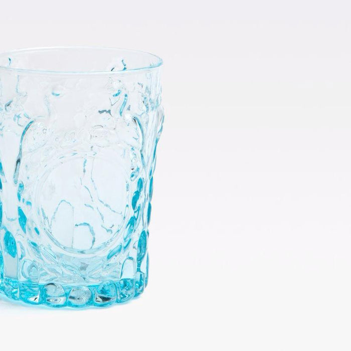 Blue Pheasant Grace Blue Tumbler Glass for elegant dining and blue tablescapes - Collyer's Mansion