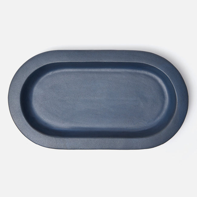 Thanos Navy Oval Platter
