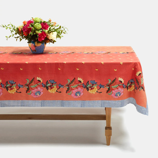 Indonesian Orange Tablecloth