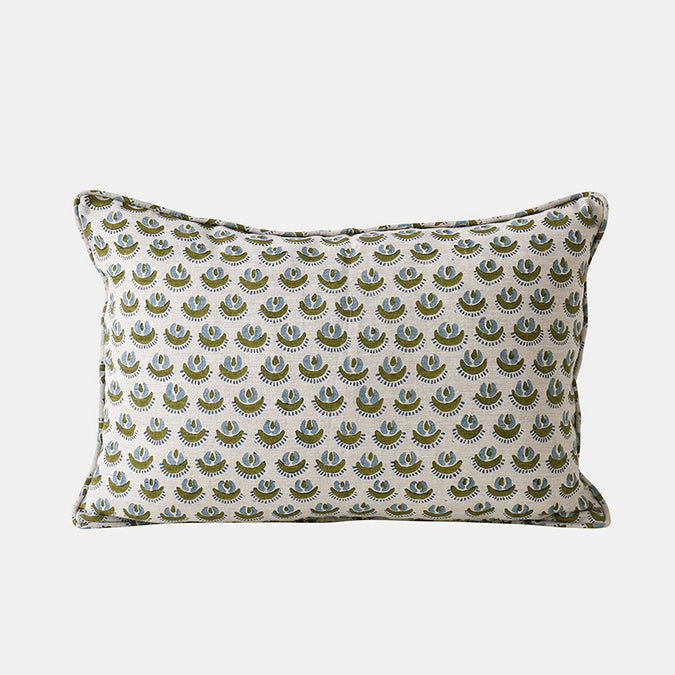 Cadiz Moss Pillow, lumbar