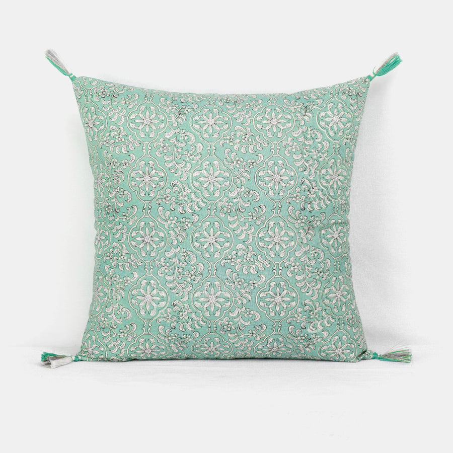 Carma Pale Green Pillow, square