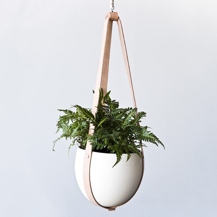 Leather Ceiling Planter
