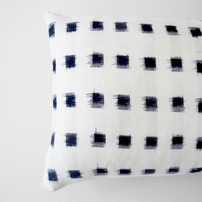 Check Ikat Pillow, lumbar, Pillow, Collyer's Mansion, Collyer's Mansion - Collyer's Mansion