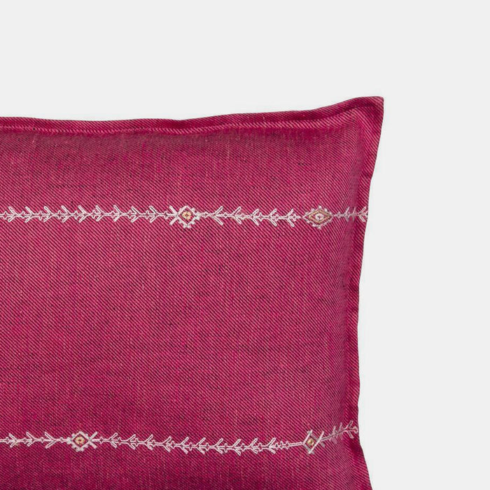 Stitch Stripe Fuchsia Pillow, lumbar