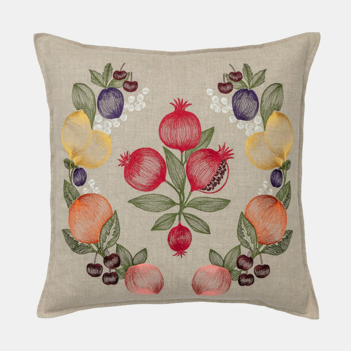 Fruits Garland Pillow, square