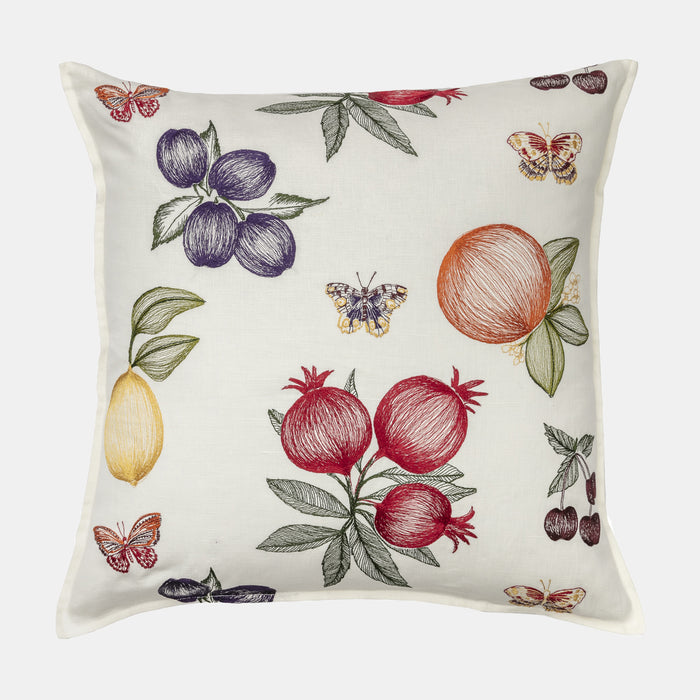 Fruits and Butterflies Pillow, square