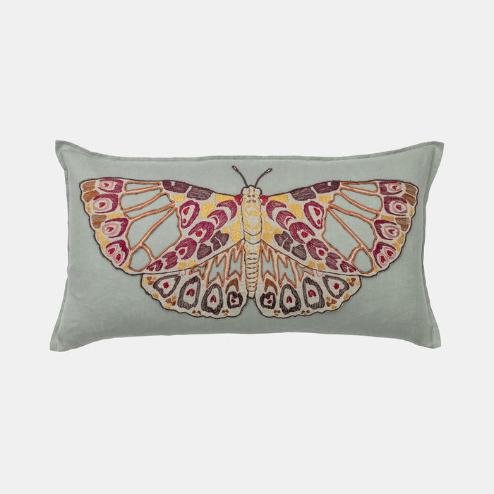 Coral & Tusk Butterfly Applique Pillow in rectangle to mix with other pillows for colorful home decor - Collyer's Mansion