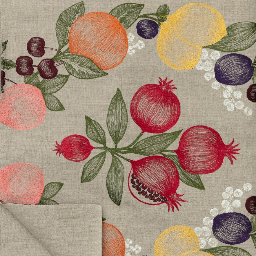 Fruits Garland Table Runner