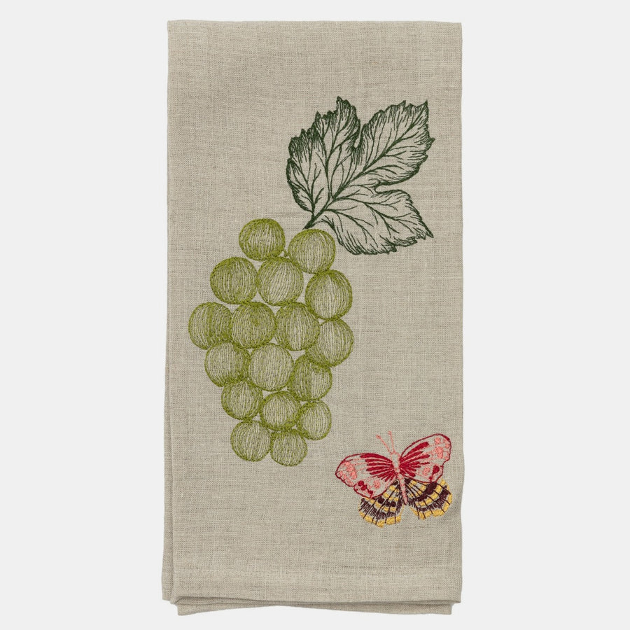 Grapes and Butterfly Tea Towel