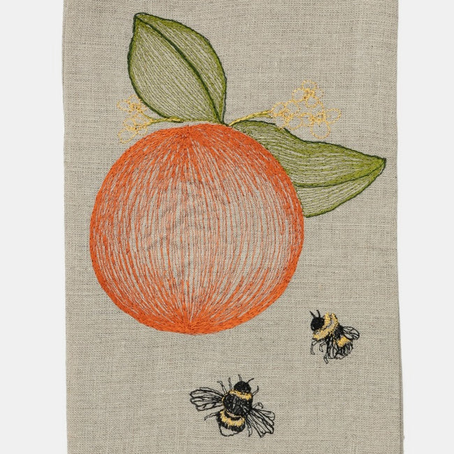 Coral & Tusk Orange Tea Towel creates a Colorful Home Decor and colorful tablescapes - Collyer's Mansion