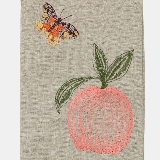 Coral & Tusk Pink Tea Towel creates a Colorful Home Decor and colorful tablescapes - Collyer's Mansion