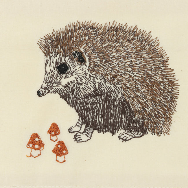 Hedgehog with Mushrooms Card