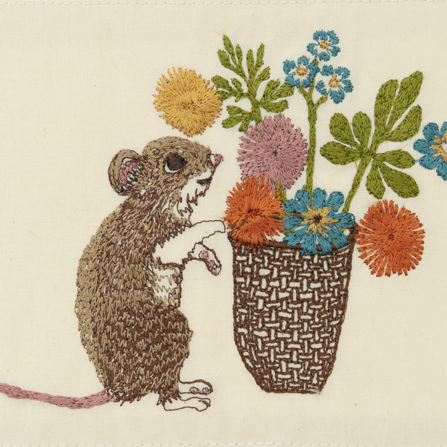 Mouse with Flowers Card