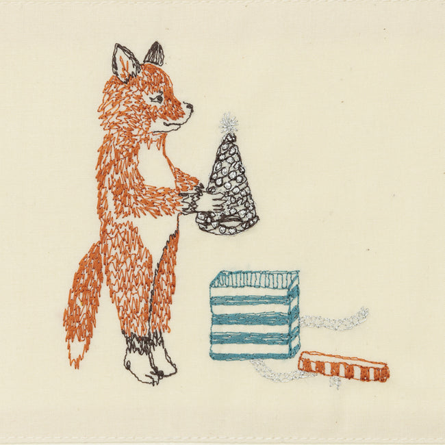 Birthday Box Fox Card