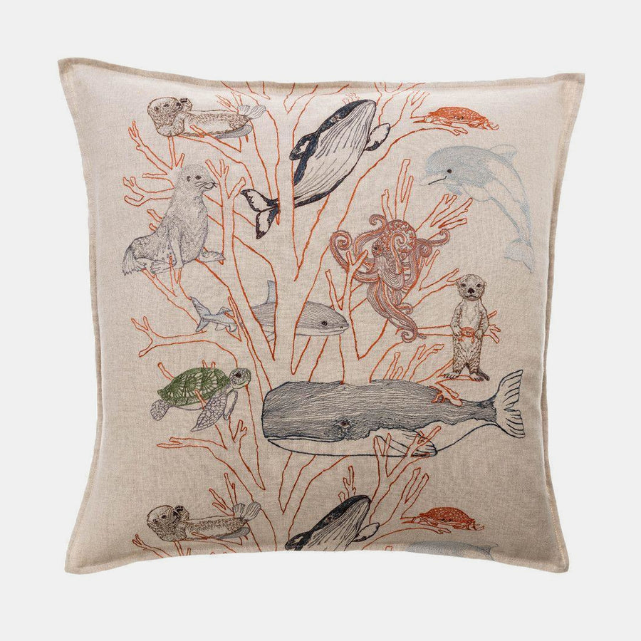 Coral Forest Pillow, square