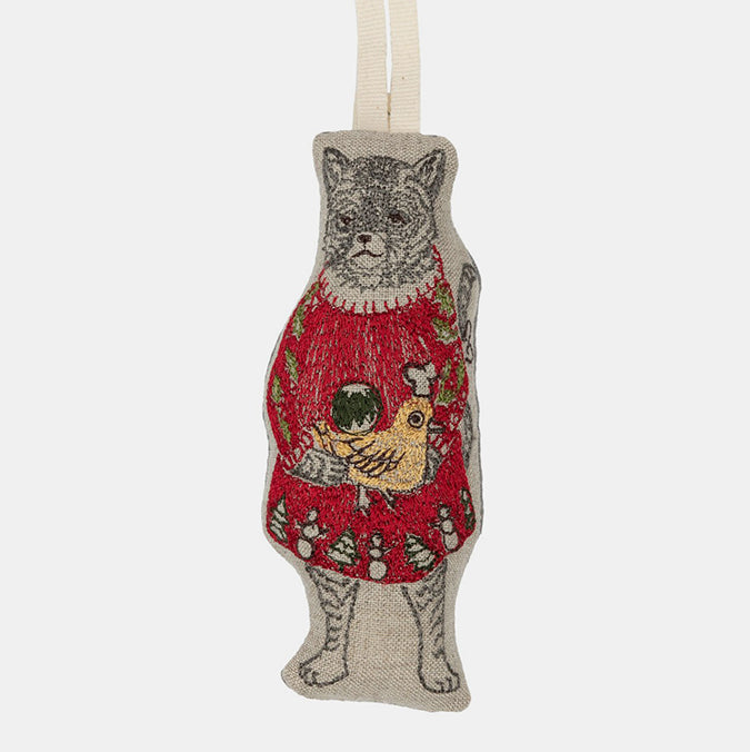 Cat with Gifts Ornament