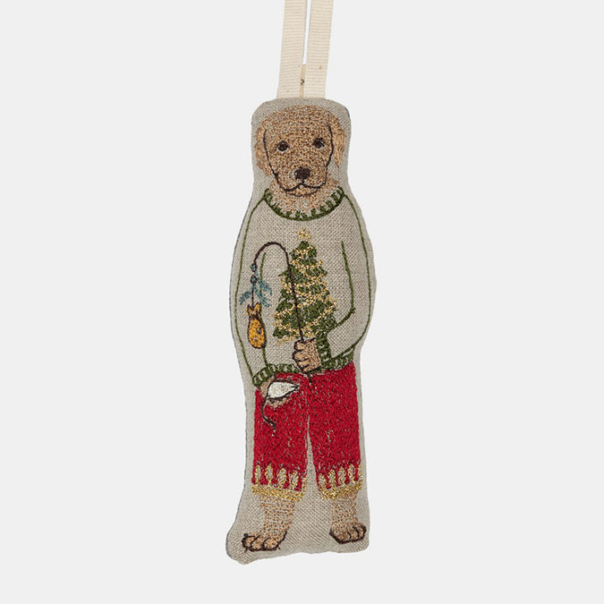 Dogs with Gift Ornament