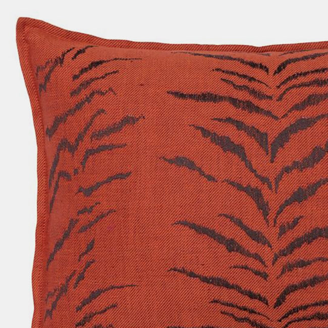 Tiger Stripe Vermillion Pillow, lumbar