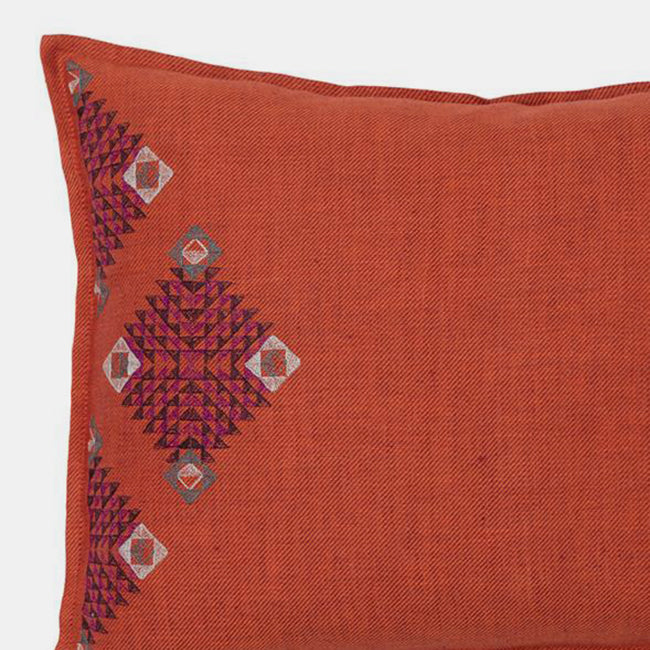 Diamond Edge Vermillion Pillow, lumbar, Pillow, Coral & Tusk, Collyer's Mansion - Collyer's Mansion