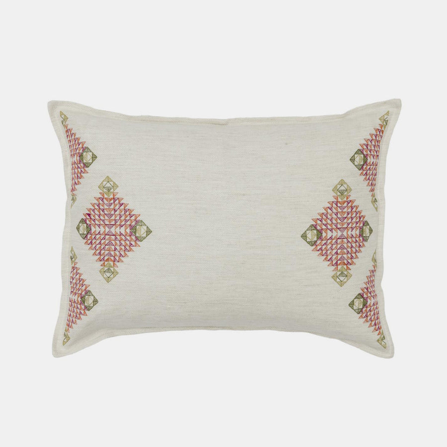Diamond Edge Ivory Pillow, lumbar, Pillow, Coral & Tusk, Collyer's Mansion - Collyer's Mansion