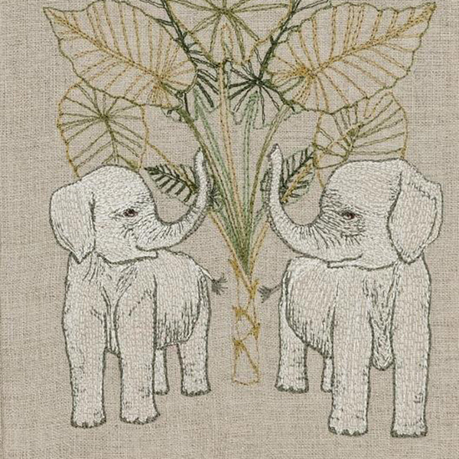Elephant Grove Tea Towel, Kitchen Cloth, Coral & Tusk, Collyer's Mansion - Collyer's Mansion