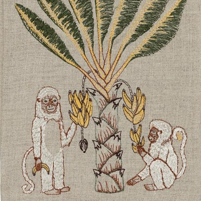 Monkeys with Bananas Tea Towel