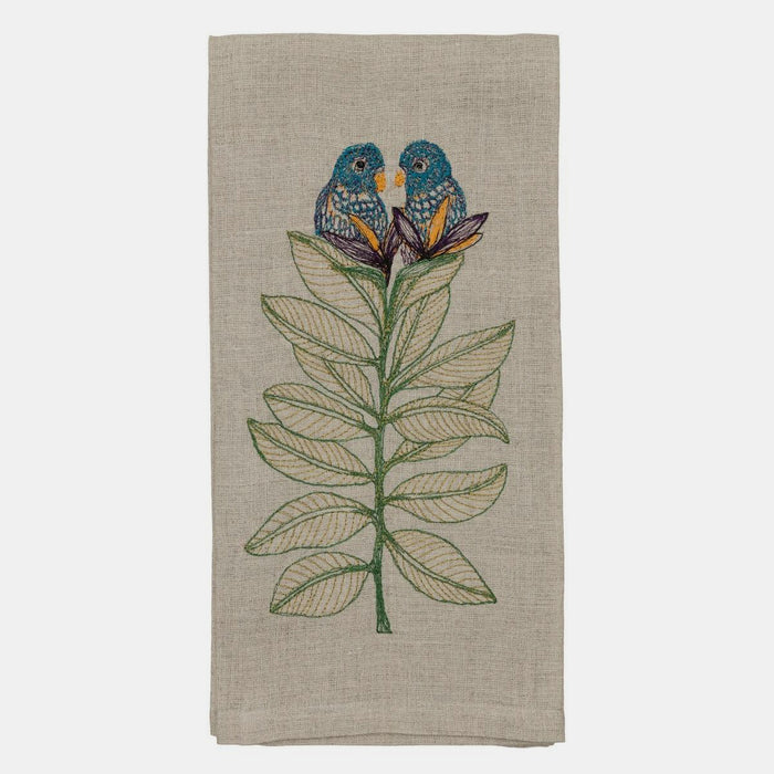 Birds of Paradise Tea Towel, Kitchen Cloth, Coral & Tusk, Collyer's Mansion - Collyer's Mansion