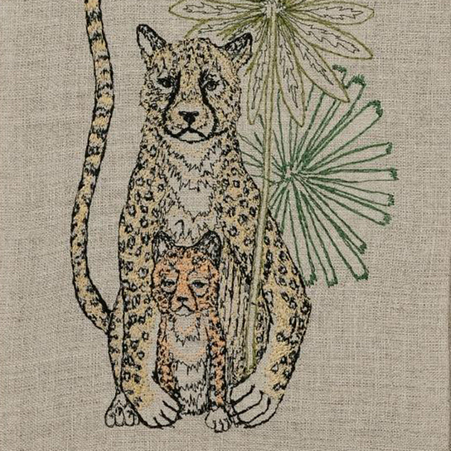 Cheetah Guardian Tea Towel, Kitchen Cloth, Coral & Tusk, Collyer's Mansion - Collyer's Mansion