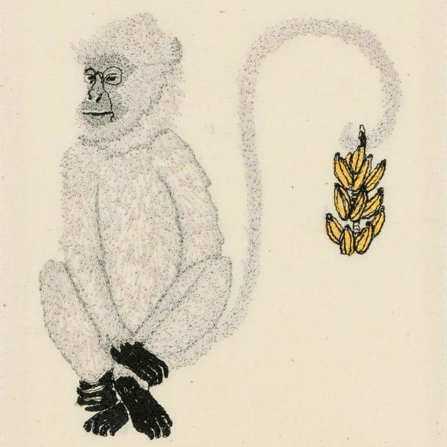 Monkey with Bananas Card