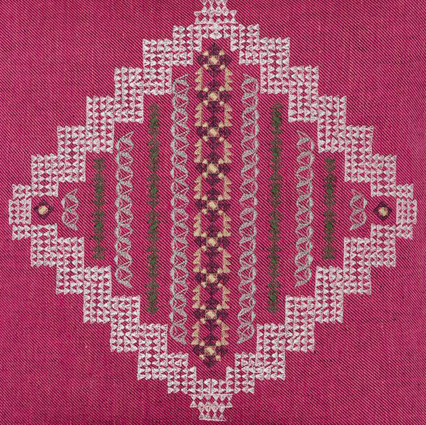 Intricate Diamond Fuchsia Pillow, square