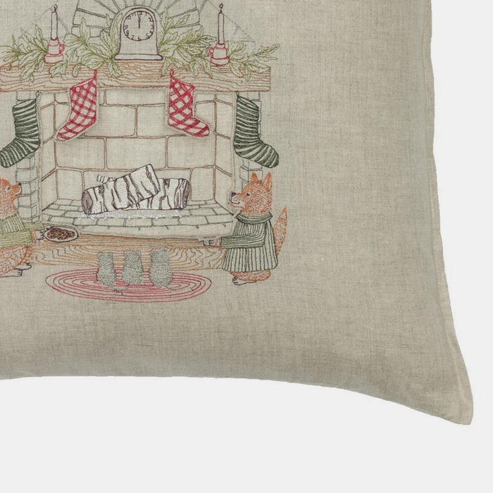 Pocket Chimney Santa Pillow, square