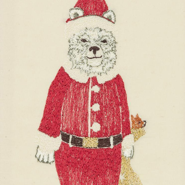 Polar Bear Santa Card