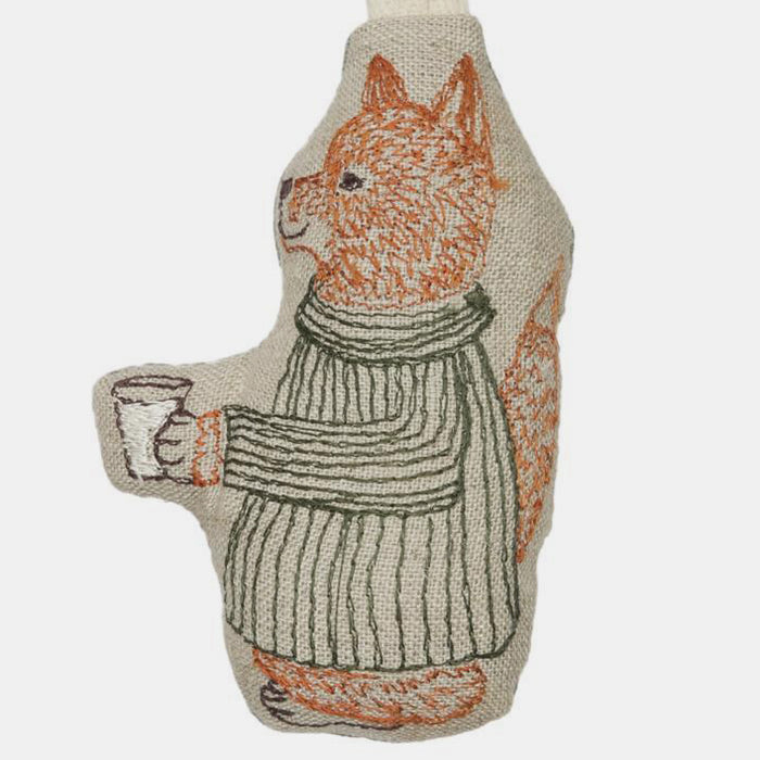 Fox with Milk Ornament