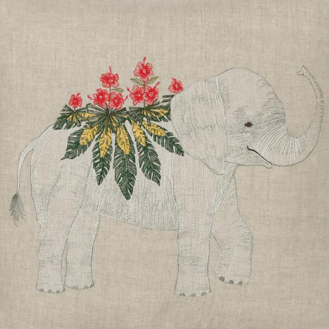 Benevolent Elephant Pillow, square, Pillow, Coral & Tusk, Collyer's Mansion - Collyer's Mansion