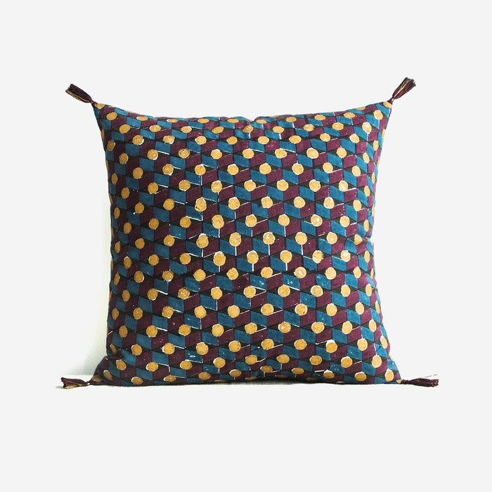 Daphne Blue Pillow, square, Pillow, Jamini, Collyer's Mansion - Collyer's Mansion