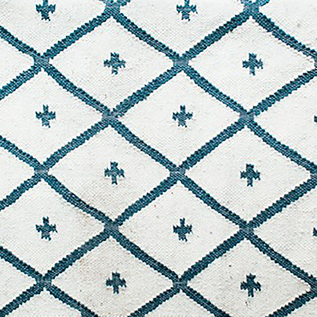 Blue Conchita Rug, 4' x 6', Rug, Jamini, Collyer's Mansion - Collyer's Mansion
