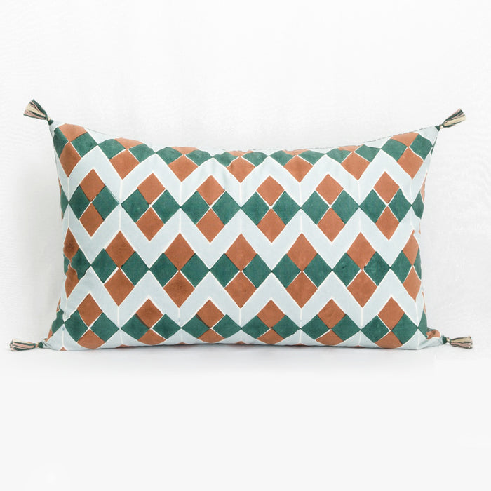 Lydia Green Pillow, lumbar
