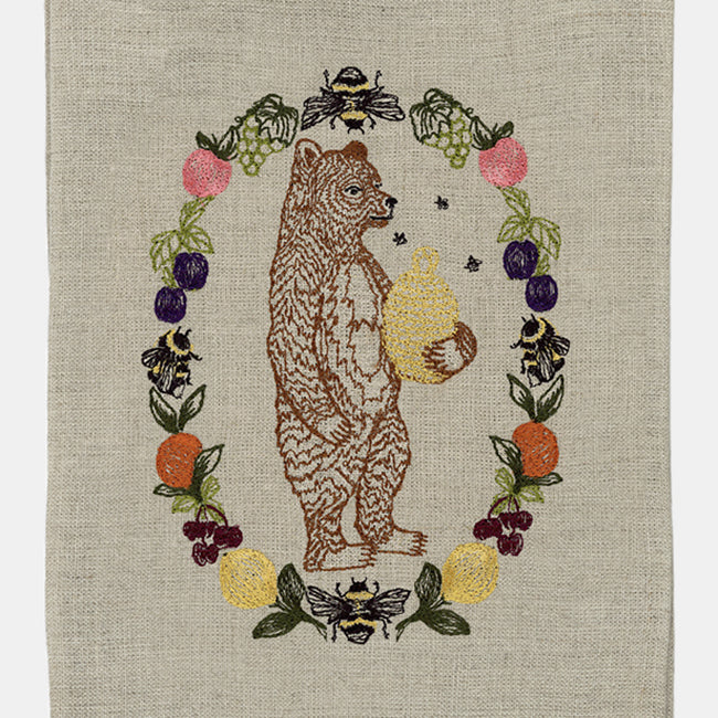 Honey Bear Tea Towel