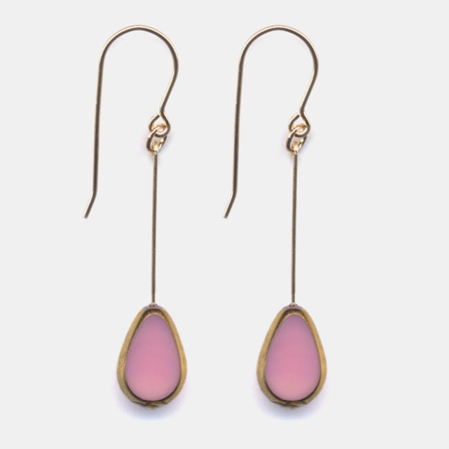 Pink Petal Drop Earrings
