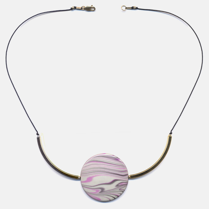 Large Swirl Disc Necklace